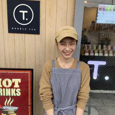 Bubble tea shop T. 店長 初田 叶美
