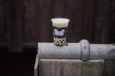 プレミアムほうじ茶ミルクティー(+タピオカ)