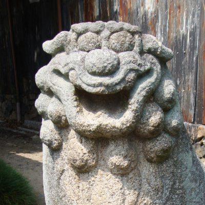 鎮宅霊符神社 狛犬 阿形
