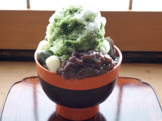 上生菓子の為の素材で誂えた樫舎のかき氷