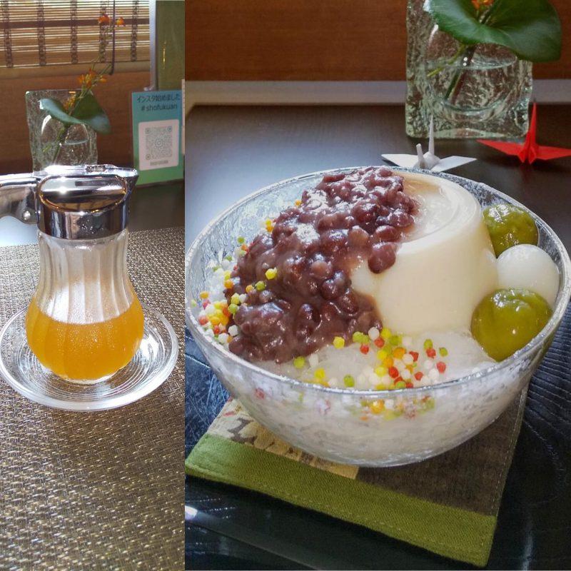 自家製米糀甘酒のかき氷(糀ぷりん)